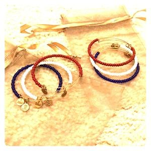 Alex and Ani- red white and blue set